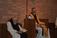 Abbot Francis Michael and Prior Anthony Delisi (on the left) of Monastery of the Holy Spirit, a Trappist monastery in Conyers, Georgia, US.