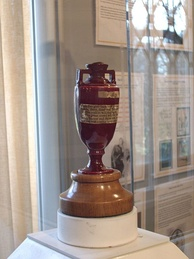 The Ashes urn.