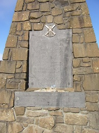 Bannockburn Monument plaque