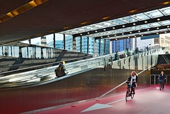 Bike passage at Rotterdam Centraal station