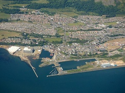 Burntisland docks from the air