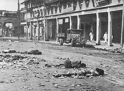 Dead and wounded after the Direct Action Day, which developed into pitched battles as Muslim and Hindu mobs rioted across Calcutta in 1946, the year before independence.