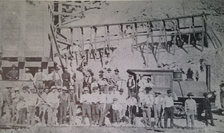 Original mining crew at the Silver King Mine.