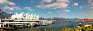 Canada Place and the Burrard Inlet.