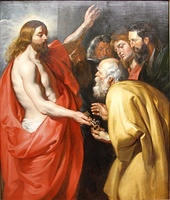 Jesus gives Peter the keys to Heaven by Pieter Paul Rubens, 1614