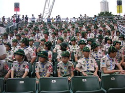 A group of Hong Kong Cub Scouts