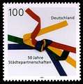 '50 years of town twinning', German stamp from 1997