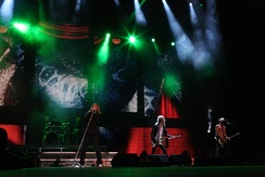 Def Leppard on stage in Sydney, Australia in 2011