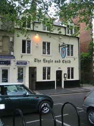 The Eagle and Child pub in Oxford where the Inklings met on Tuesday mornings in 1939
