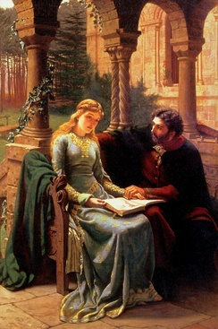 Abelard and his pupil Heloise by Edmund Leighton, 1882