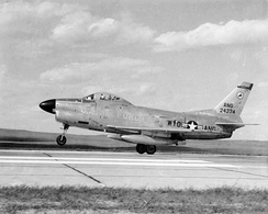 A Wyoming Air National Guard F-86L in the late 1950s.