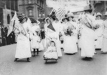 Feminist suffrage parade, New York City, 6 May 1912