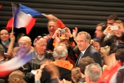 François Bayrou at a meeting in Marseille in April 2012