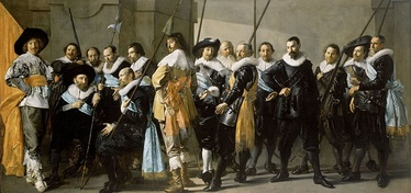 The Meagre Company, an Amsterdam militia group portrait or schutterstuk by Frans Hals and Pieter Codde (1633-37)
