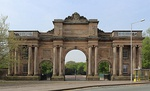 Grand Entrance Gateway to Birkenhead Park with North and South Lodges