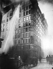The 1911 Triangle Shirtwaist Factory fire killed 146 garment workers.