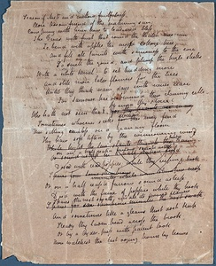"Unrestored manuscript copy of ""To Autumn"""