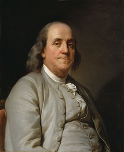 Benjamin Franklin (1785) by Joseph Duplessis, given to the NPG by the Cafritz Foundation in 1987.