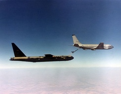 KC-135A AF Ser. No. 60-0347 refuels B-52D AF Ser. No. 55-0057 of the 306 BW.  This B-52D is now preserved on display at Maxwell AFB, Alabama