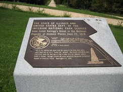 The plaque at the site of the Battle of Kellogg's Grove mentions Lincoln's presence there