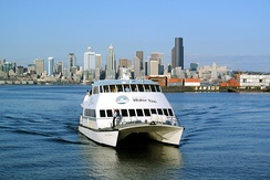 King County Water Taxi and downtown Seattle