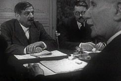 Laval and Pétain in Frank Capra's documentary film Divide and Conquer (1943)