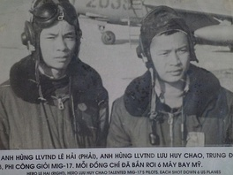 Luu Huy Chao and Le Hai, VPAF MIG 17 pilots, each credited with six aerial combat victories against U.S planes in the skies over North Vietnam.
