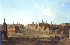 View of Calle de Alcalá in 1750 by Antonio Joli