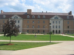 Massie Hall is the first and oldest building at Shawnee State University