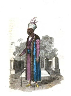 """Master of Ceremonies"". from the book Persia by Frederic Shoberl, 1828"