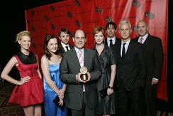 Matthew Weiner and the cast of Mad Men at the 67th Annual Peabody Awards