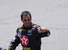 Juan Montoya won the pole position with a time of 49.375.