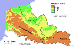 Cambrai in its topographical context