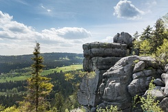 The Table Mountains are part of the Sudetes range in Lower Silesia.