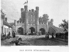 The Königstor (King's Gate) in the 19th century