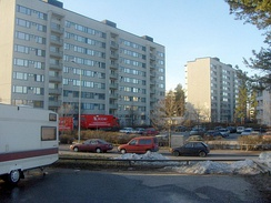 Kontula, a suburban neighborhood in the East Helsinki area of Helsinki, Finland