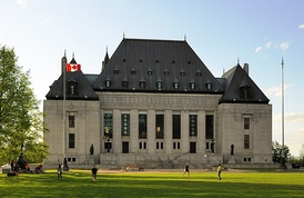 The building of the Supreme Court of Canada, the chief authority on the interpretation of the Charter