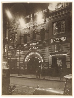 Palace Theatre, featuring Dracula starring Nat Madison, circa 1929
