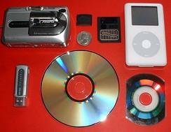 Various electronic storage devices