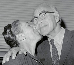 George Wald with wife Ruth Hubbard in 1967