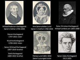 When Michael (Mikael) Kierkegaard died on 9 August 1838 Søren had lost both his parents and all his brothers and sisters except for Peter who later became Bishop of Aalborg in the Danish State Lutheran Church.