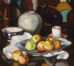 Samuel Peploe Still life – apples and jar (1912–1916) (from the Gallery's collection)