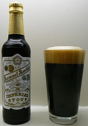 A bottle of Imperial Stout, a vegan beer