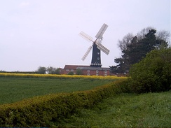 Skidby Windmill is surrounded by fertile agricultural land typical of the East Riding.