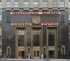 Suburban Station with Art Deco architecture