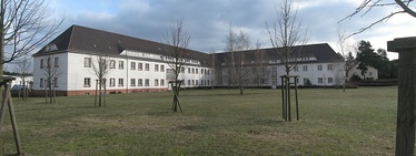 The T-building in Sachsenhausen concentration camp, home of the Concentration Camps Inspectorate from 1938