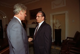 Then-Governor Thompson meets President Bill Clinton, 1993
