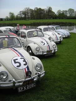 Fan-made Herbie replicas at Stamford Hall