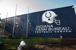The Indiana Farm Bureau Football Center houses administrative and training offices for the Indianapolis Colts.