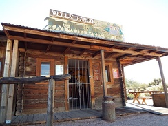 A late 19th Century Wells Fargo Bank in Apache Junction, Arizona